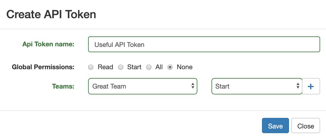 Create token