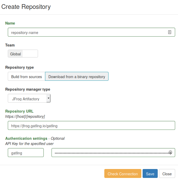 Binary Repository creation