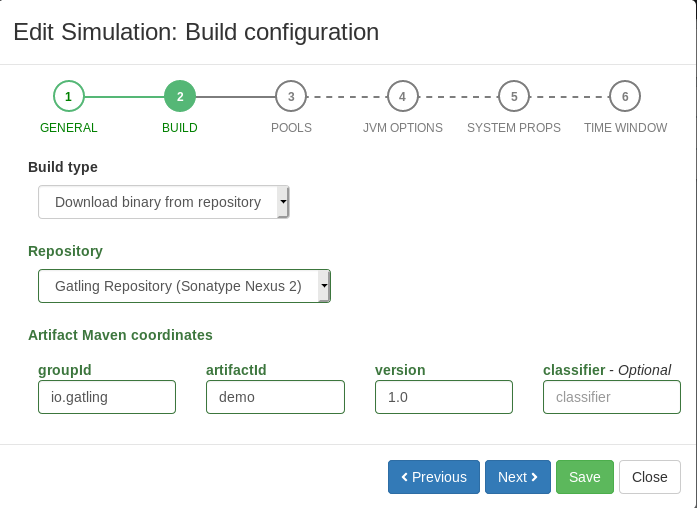 Create simulation - Step 2 - Binary