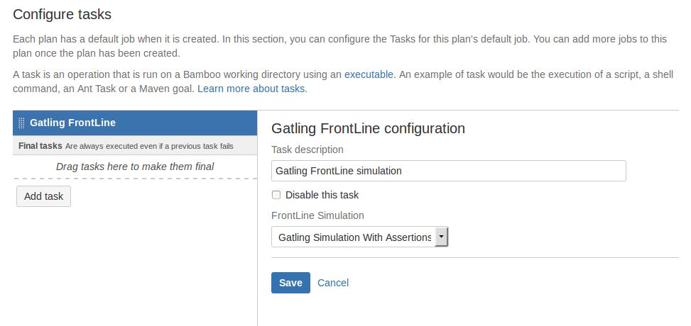 Task configuration
