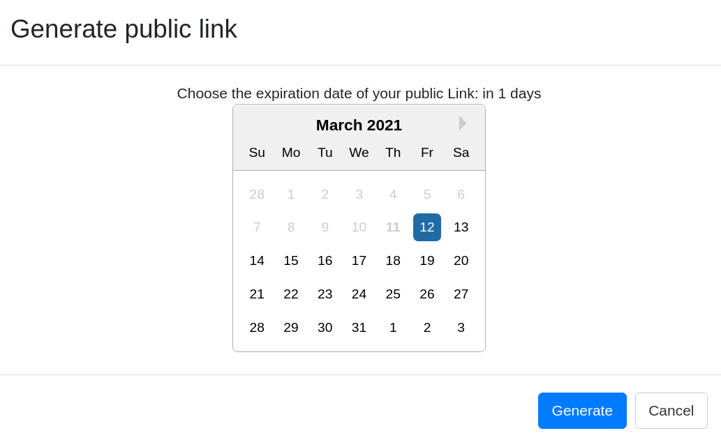 Generate public links