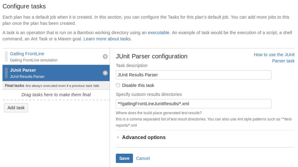 JUnit configuration