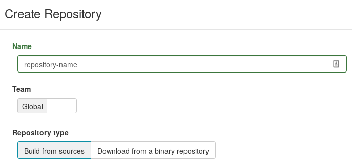 Repository creation
