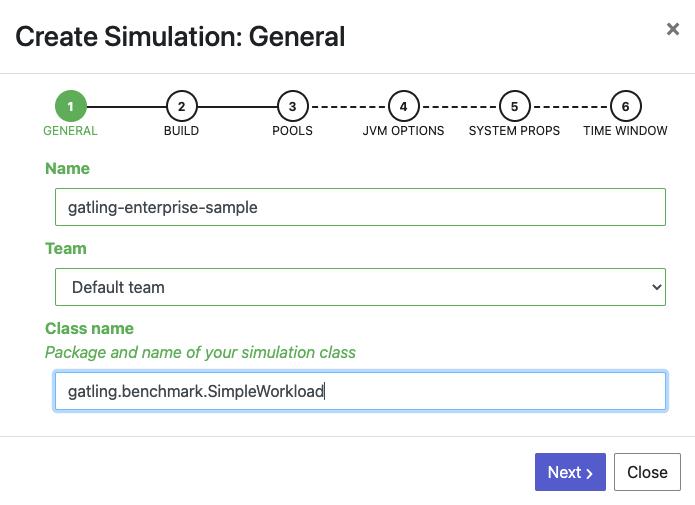 Create simulation - Step 1