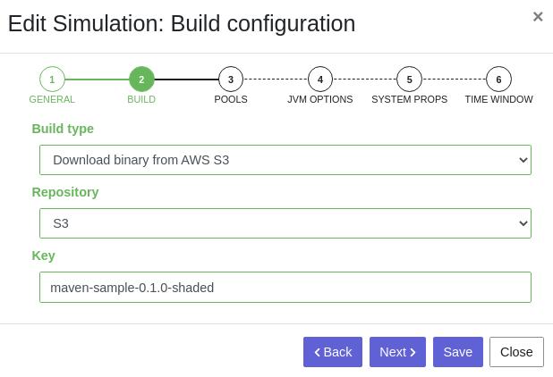 Create simulation - Step 2 - S3