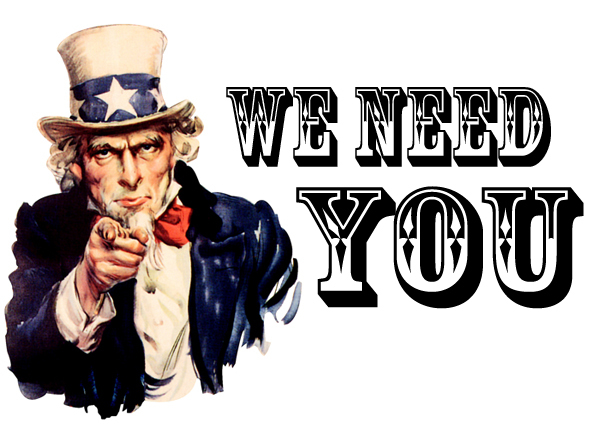 drawing of american uncle sam saying we need you
