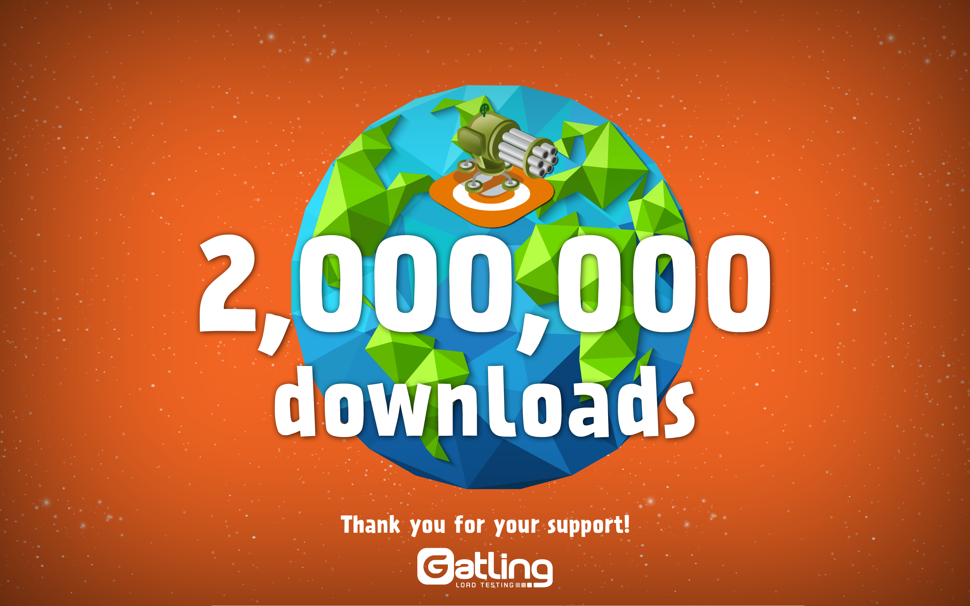 gatling open source was downloaded 2 million times