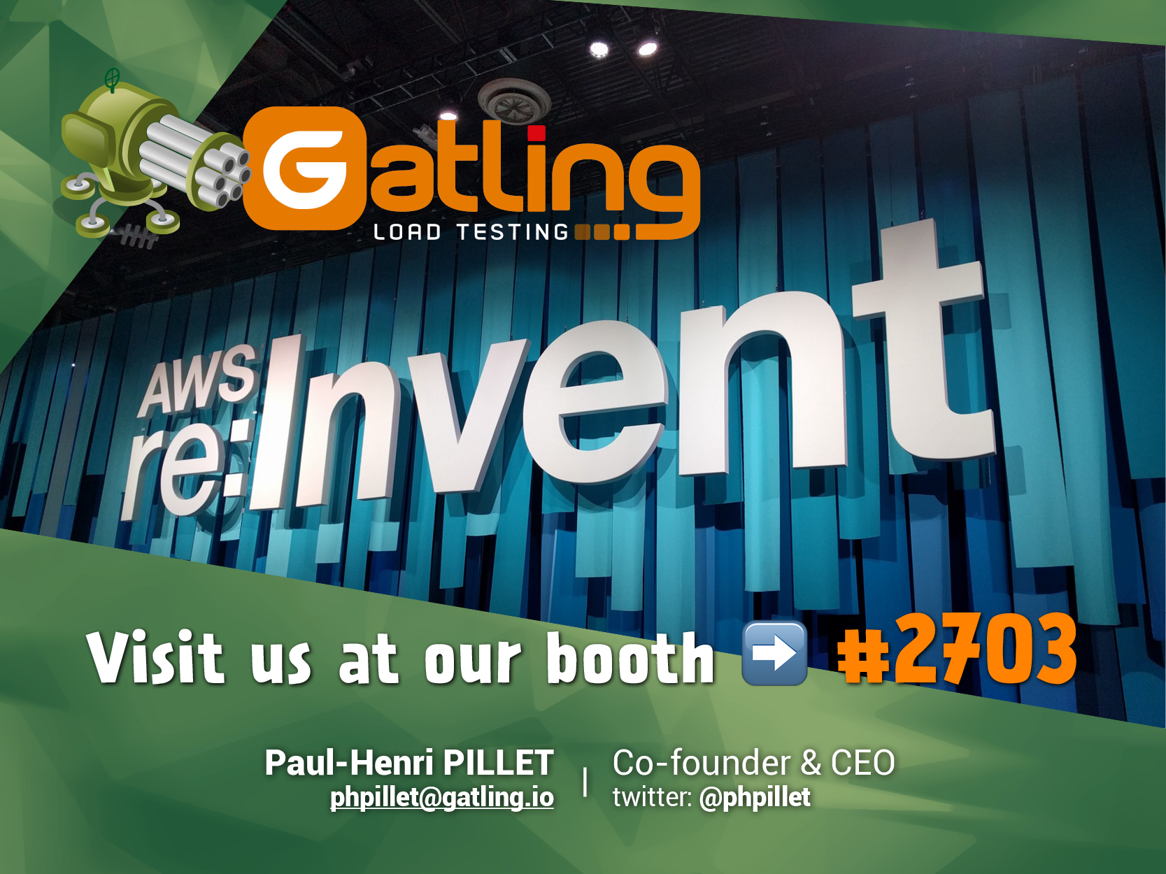 Gatling participated in AWS re Invent summit