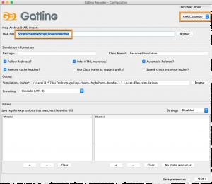 Evaluation recorder - Gatling